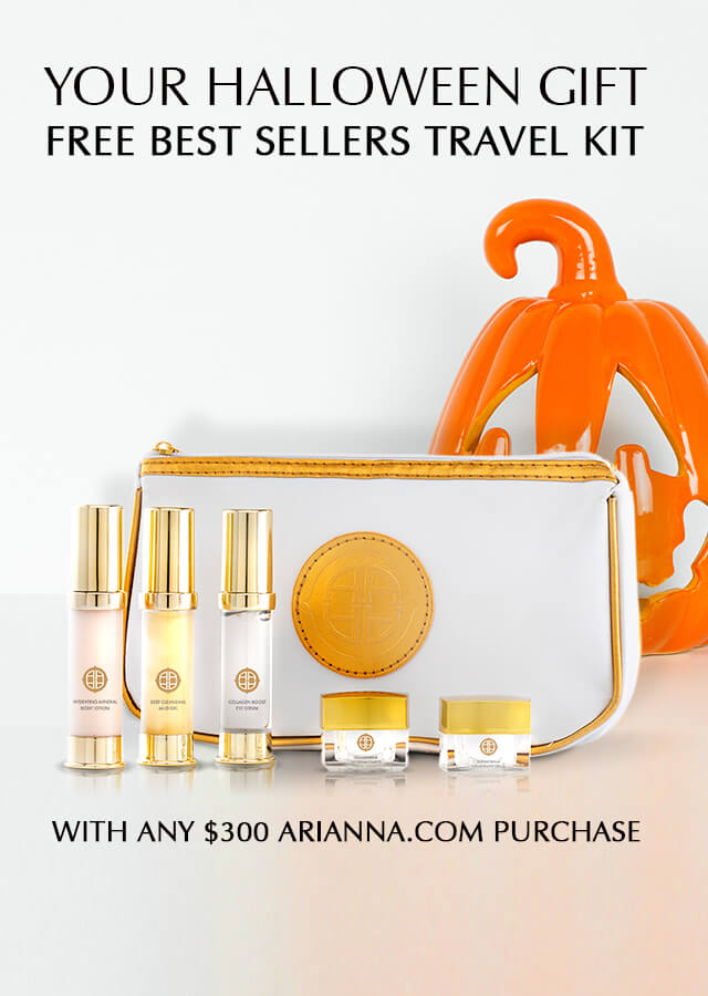 arianna skincare, travel kit