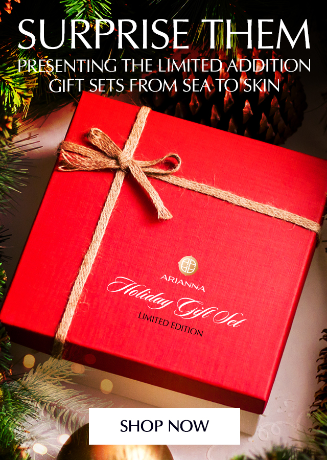 arianna skincare, holiday gifts