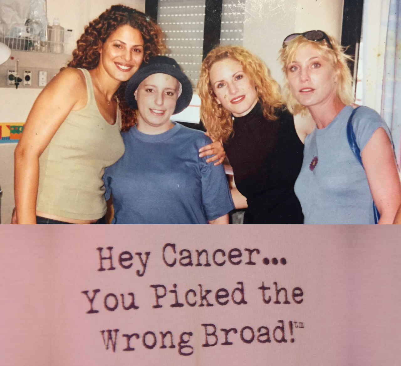 Miri Torres with cancer surrounded by her friends