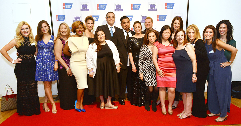 group photo of Taste of Hope's honorees at the red carpet