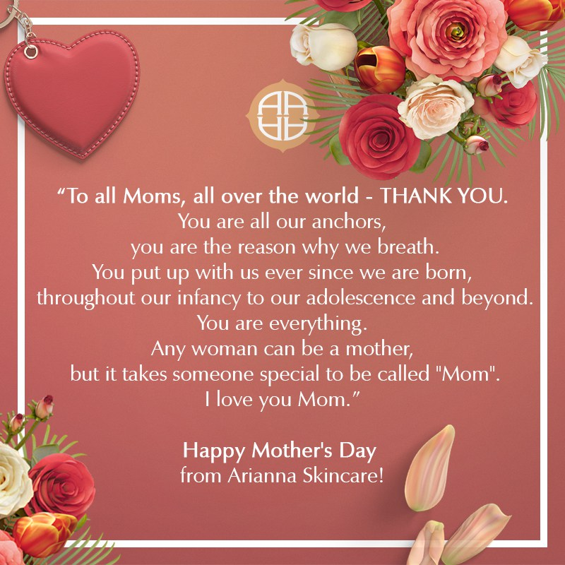 Happy Mother's day card: To all Moms, all over the world, THANK YOU!