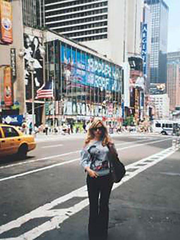 Miri Torres at Times Square